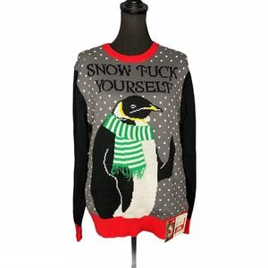 Spencers Penguin Snow F Yourself Christmas Sweater
